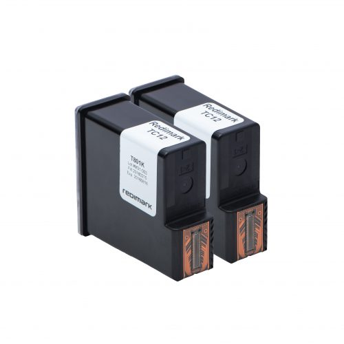 Two Redimark T801K XL production size ink cartridges